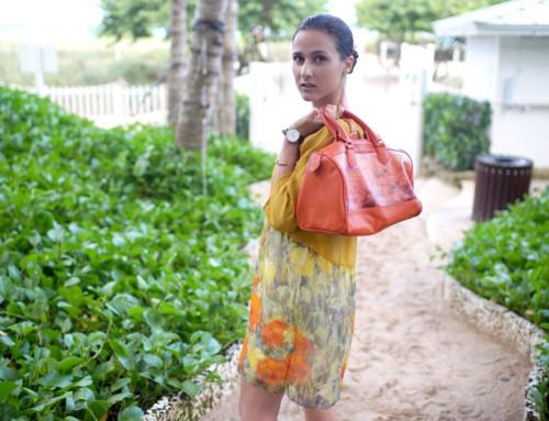 Sarah Barlondo art wear by Lucia Sarto