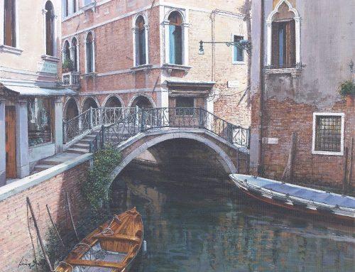 Rio a Venezia 50x40cm acrilico su tela